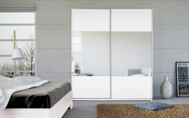 Dallas White Sliding Wardrobes