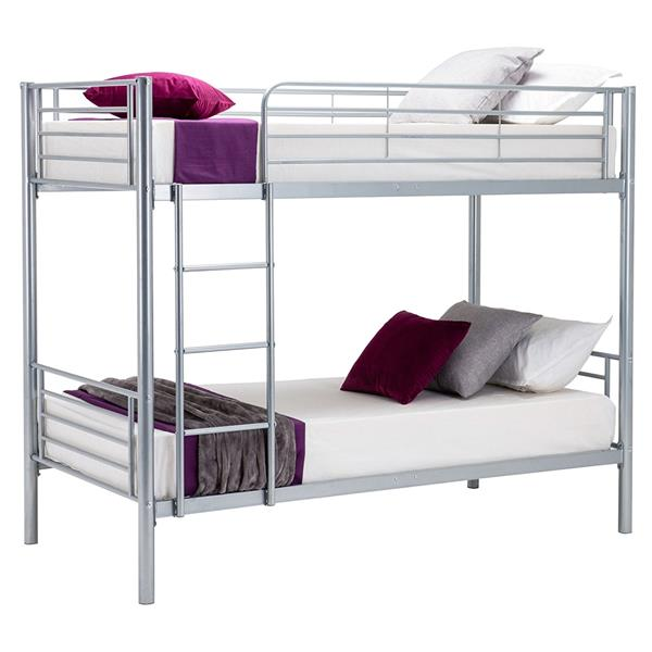 Silver 3ft Bed Children 39 S Twin Metal Bunkbed