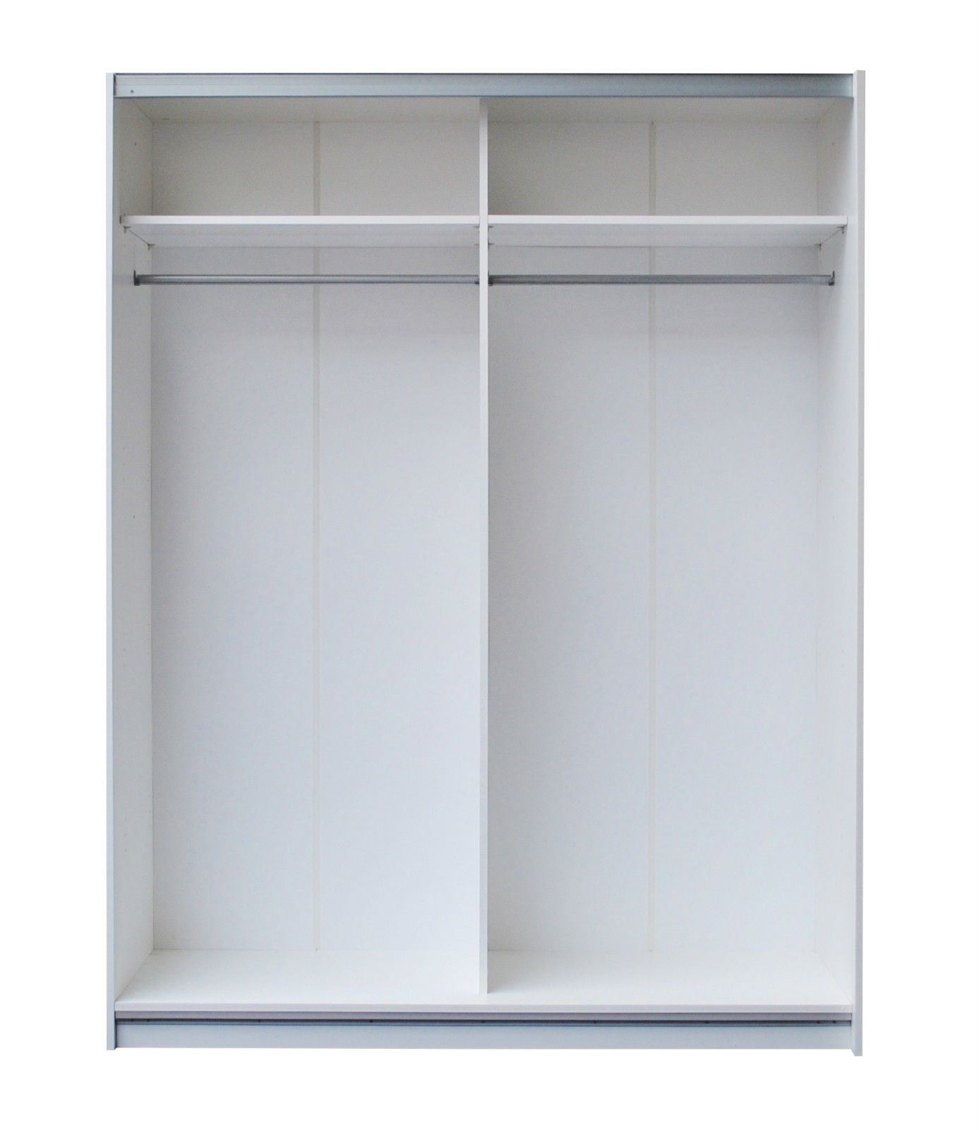 Dallas White Sliding Door Wardrobe High Gloss Black High Gloss White