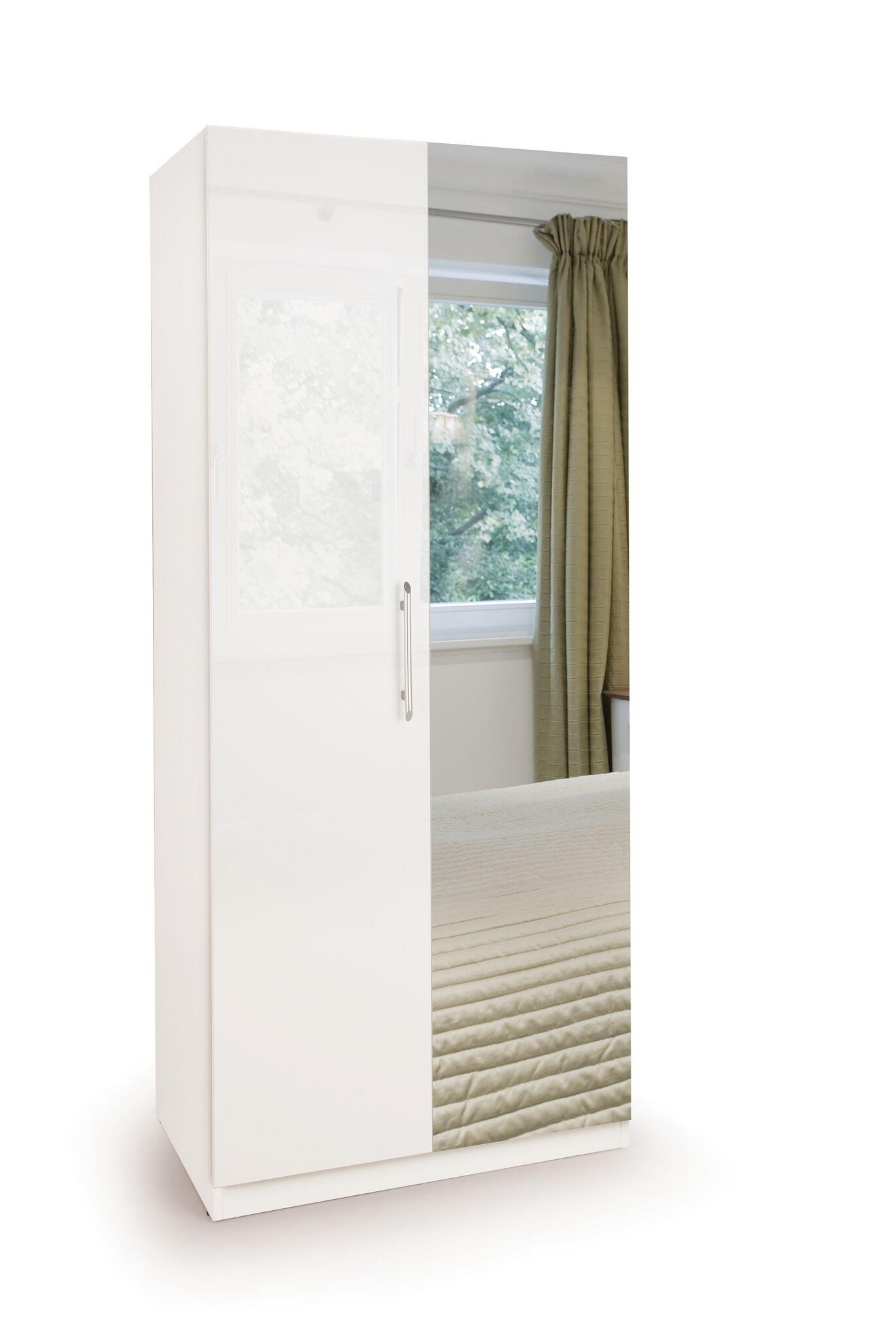 Connect Angel  2 Door Wardrobe with Mirror