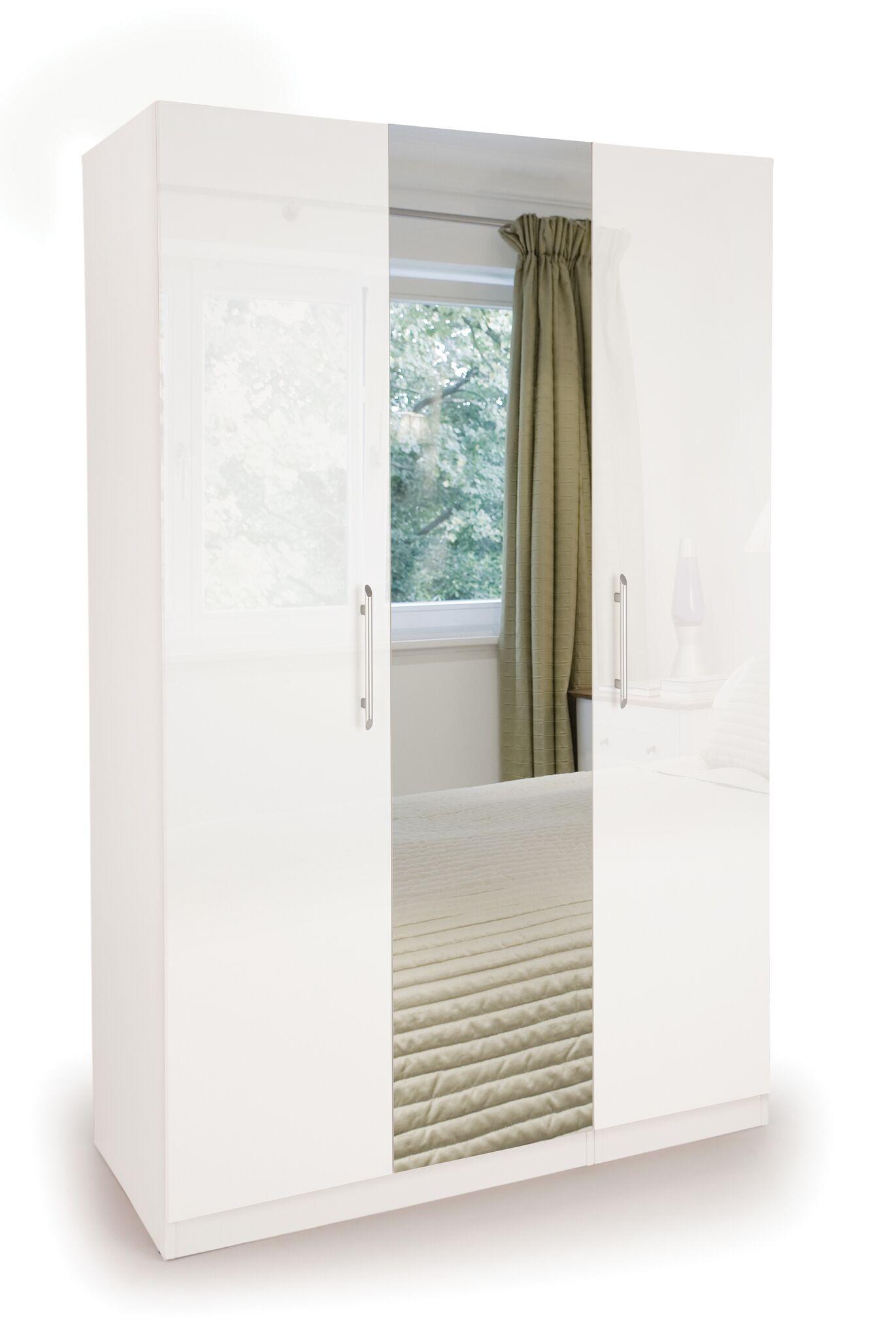 Connect Angel  3 Door Wardrobe with Mirror