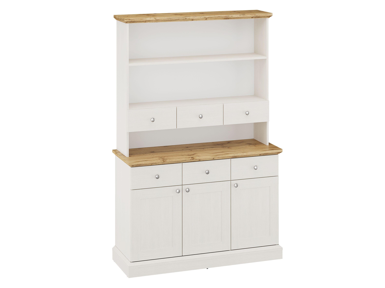 Ashover Tall Dresser - White & Oak