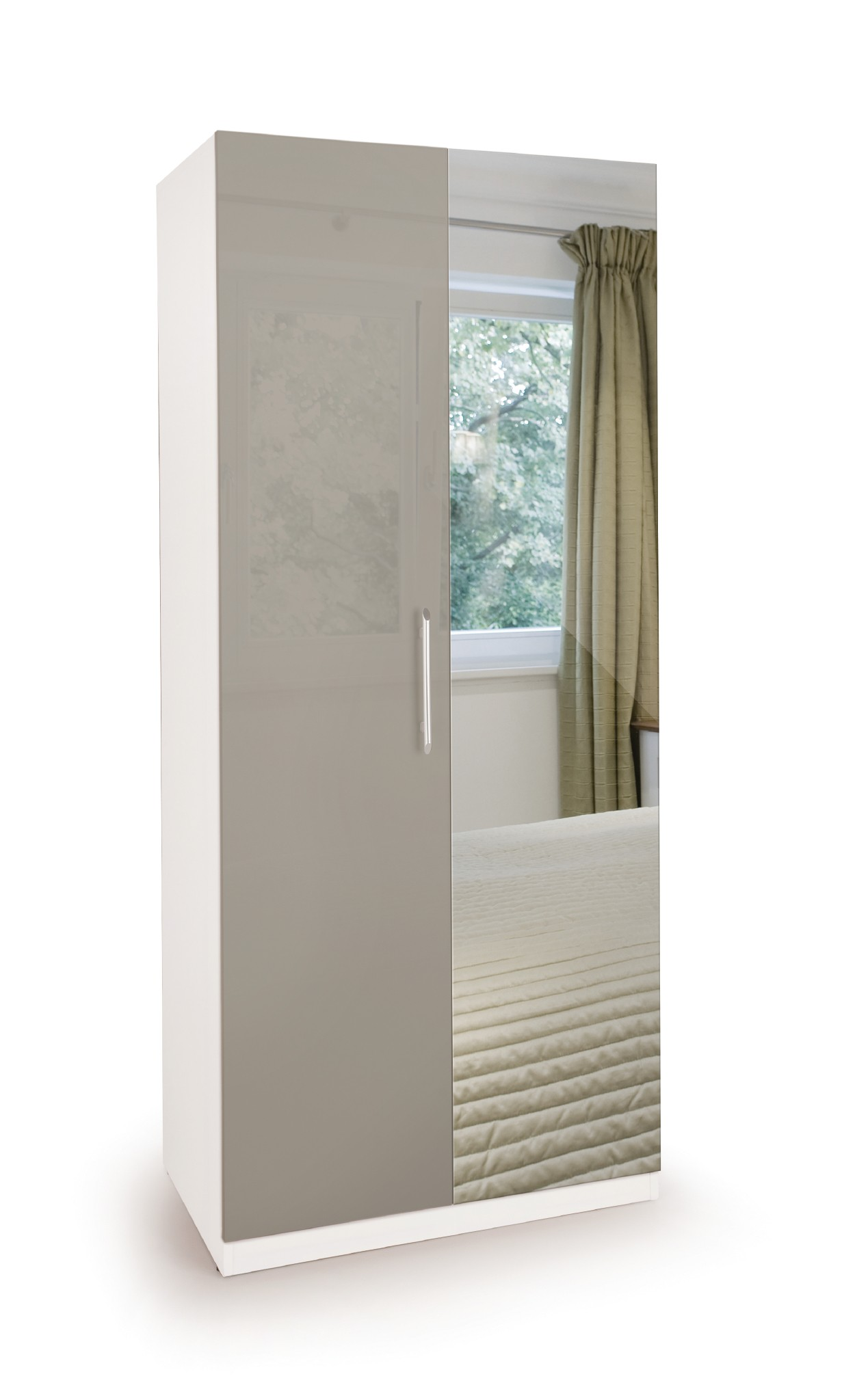 Connect Bayswater 2 Door Wardrobe with Mirror