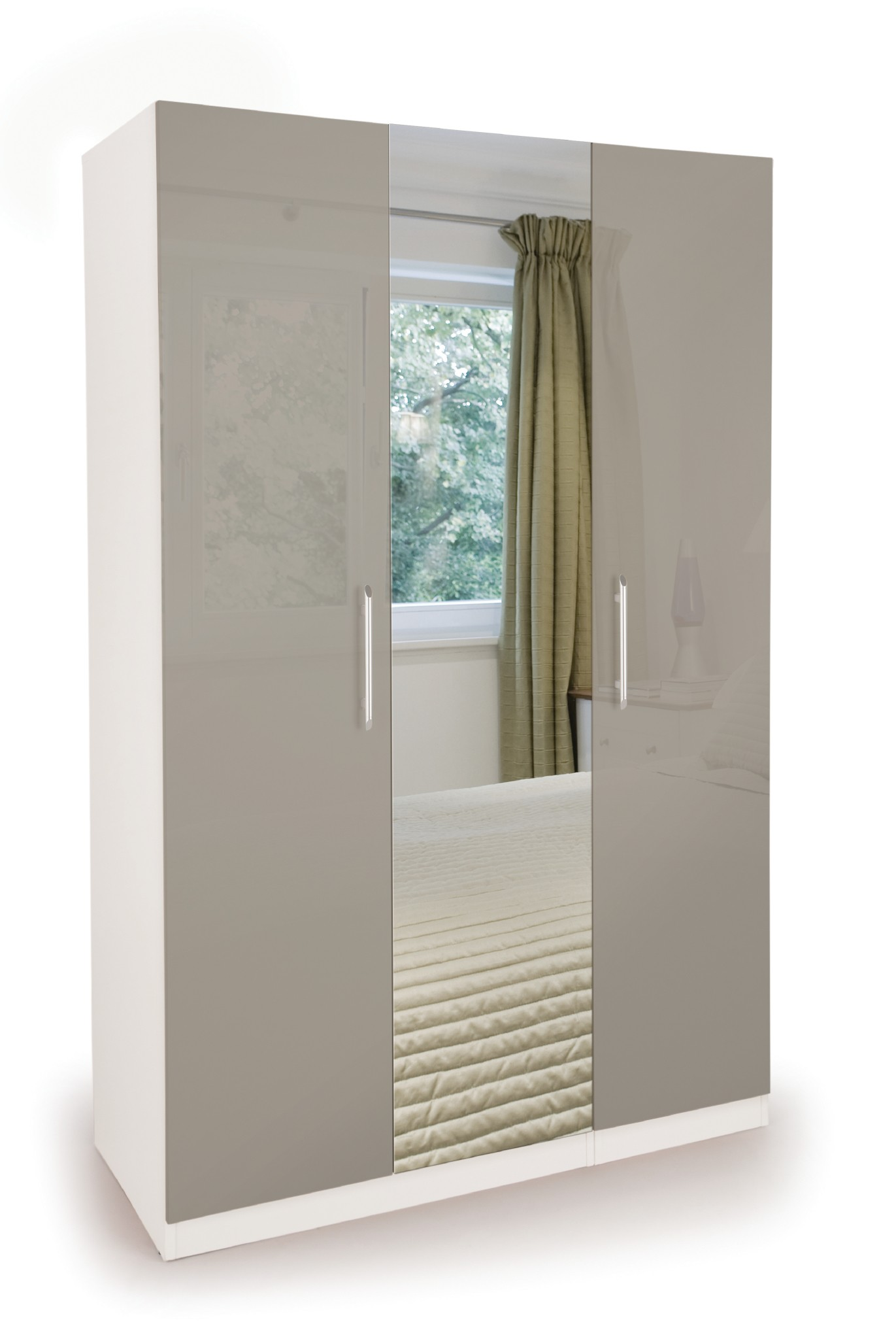 Connect Bayswater 3 Door Wardrobe with Mirror