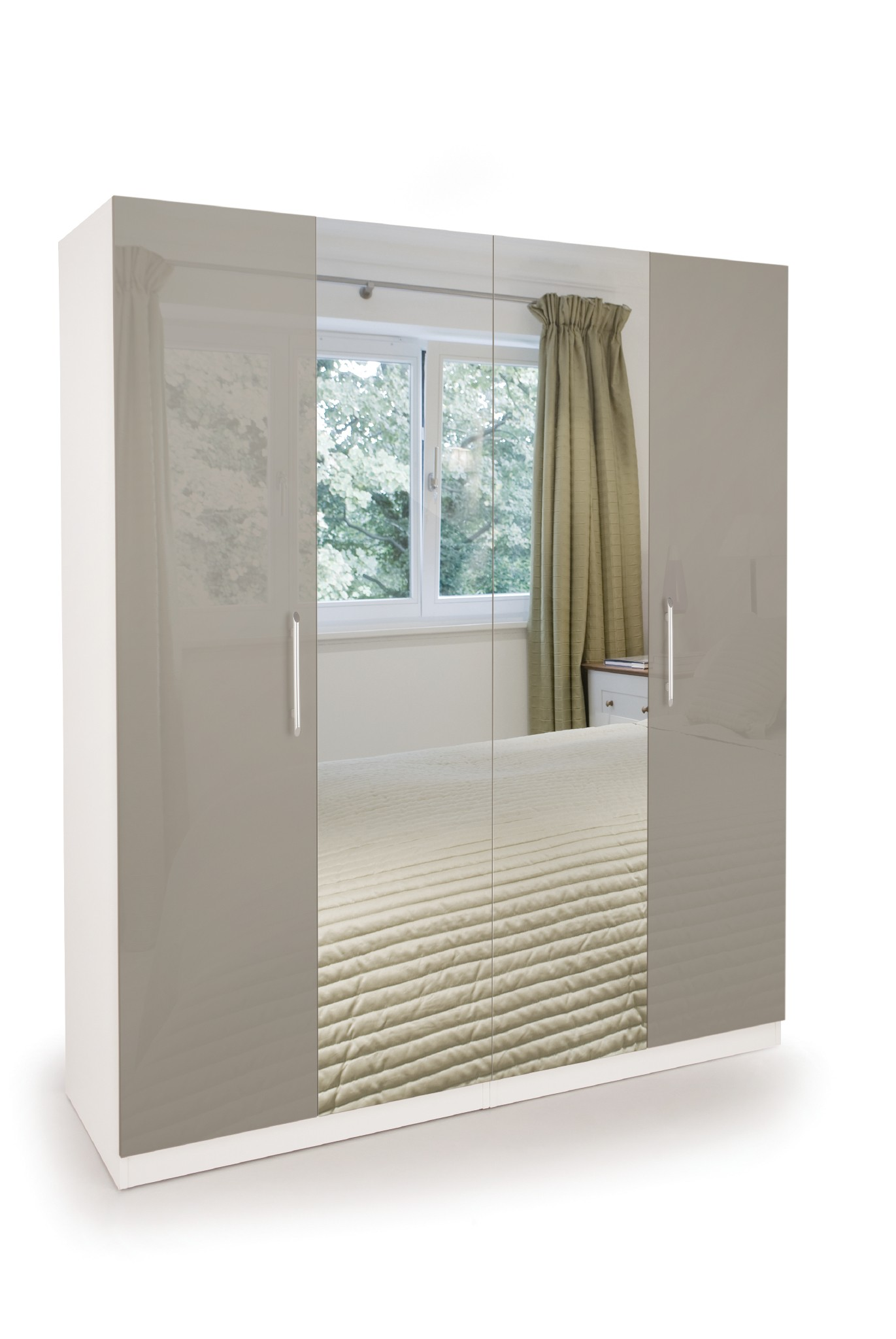 sc 1 st  ideal Products & Connect Bayswater 4 Door Wardrobe with Mirrors