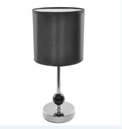 Satin & Chrome Table Lamp - Black
