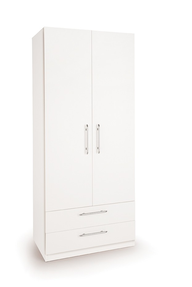 Connect Acton 2 Door Wardrobe with 2 Drawers