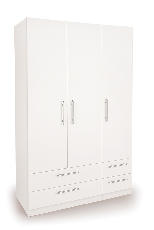 Connect Acton 3 Door Wardrobe with 4 Drawers