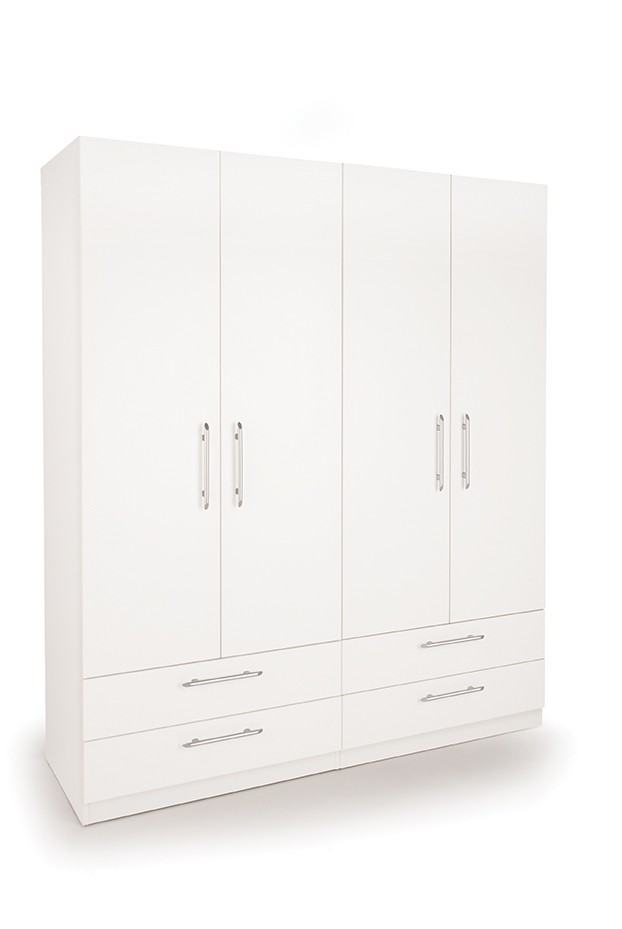 Connect Acton 4 Door Wardrobe with 4 Drawers