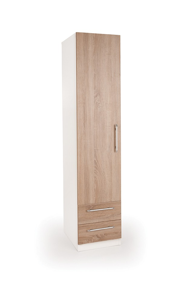 Connect Euston 1 Door Wardrobe with 2 Drawers
