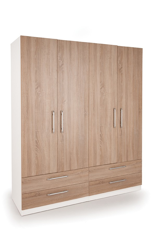 Connect Euston 4 Door Wardrobe with 4 Drawers