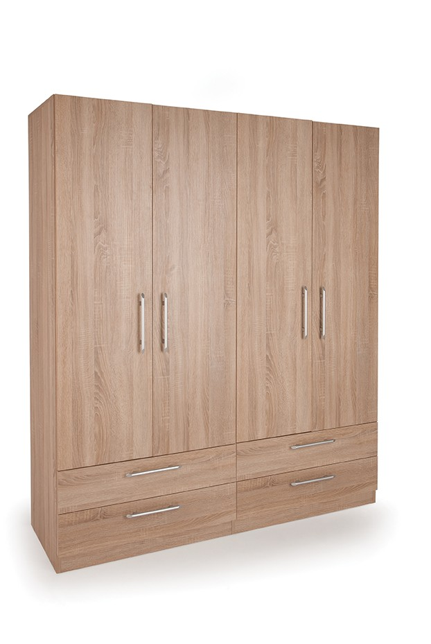 Connect Holborn 4 Door Wardrobe with 4 Drawers