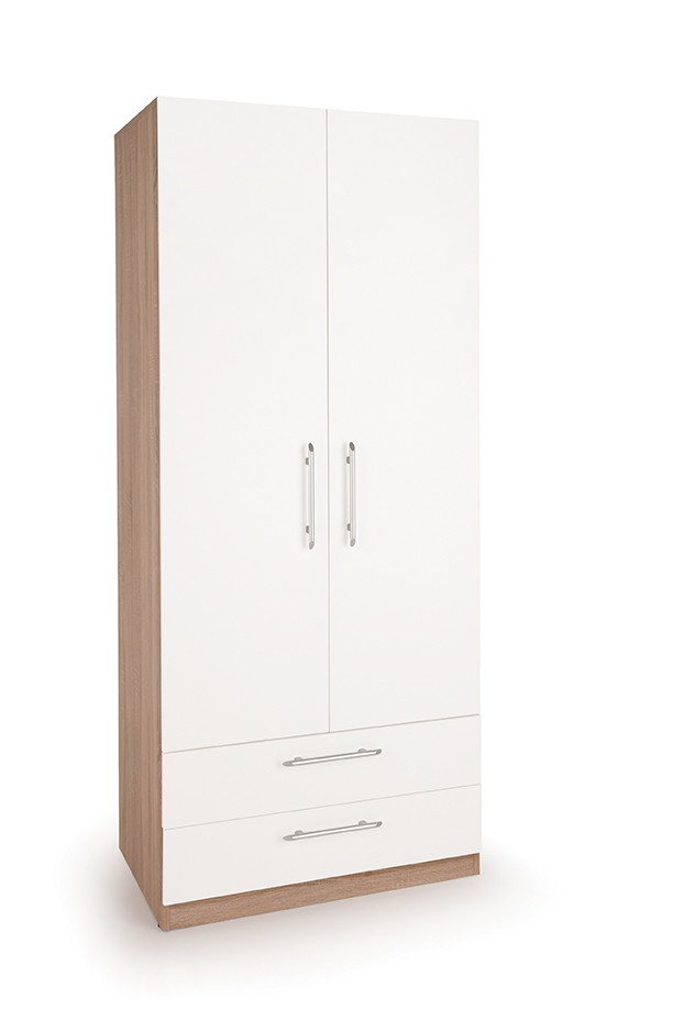 Connect Hyde 2 Door Wardrobe with 2 Drawers