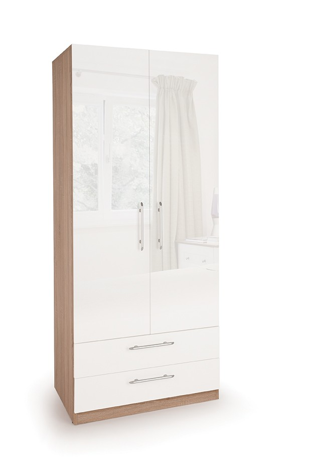 Connect Kew White 2 Door Wardrobe with 2 Drawers