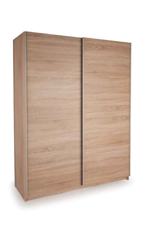Dallas Oak Sliding Door Wardrobe- Double Oak