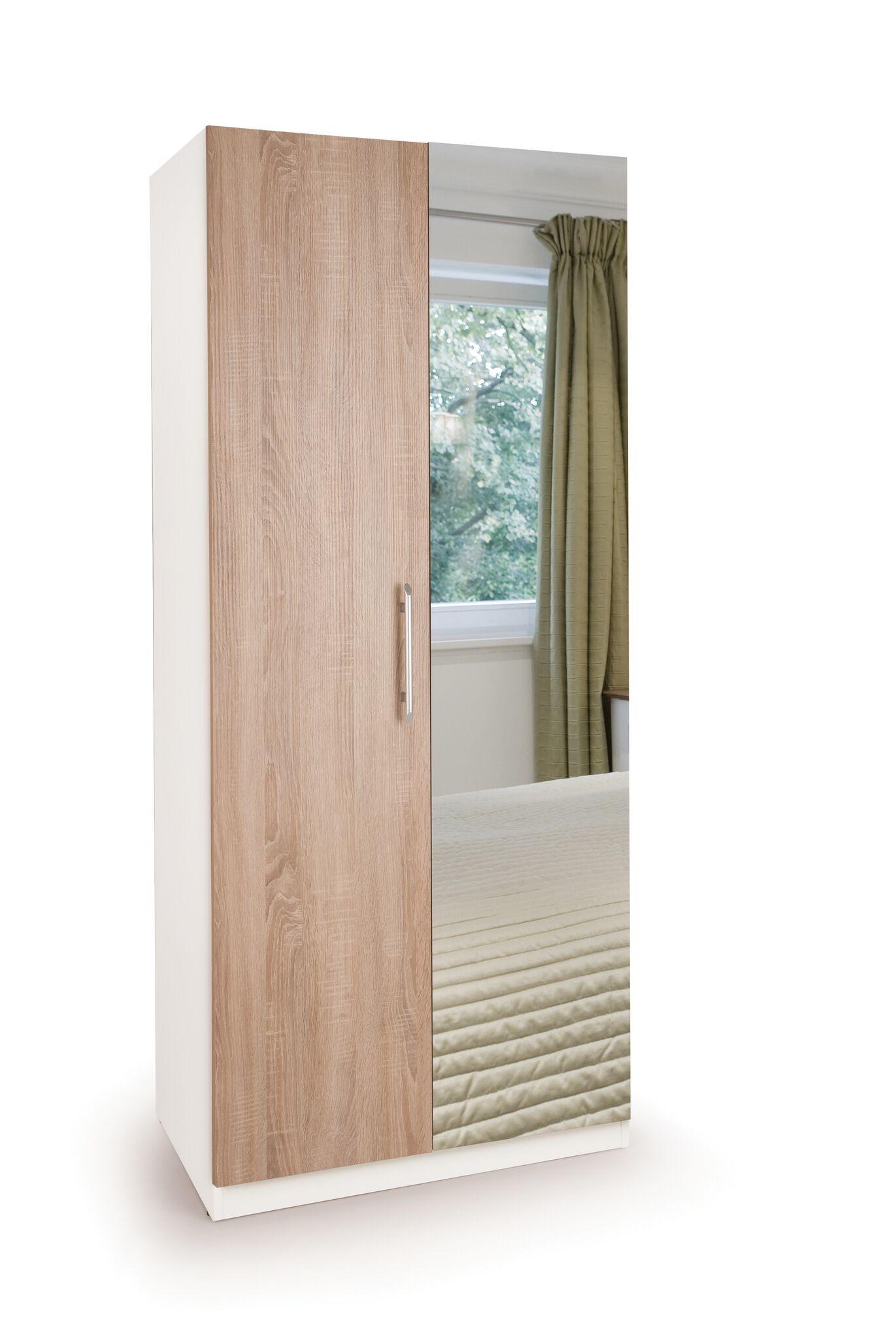 Connect Euston 2 Door Wardrobe with Mirror