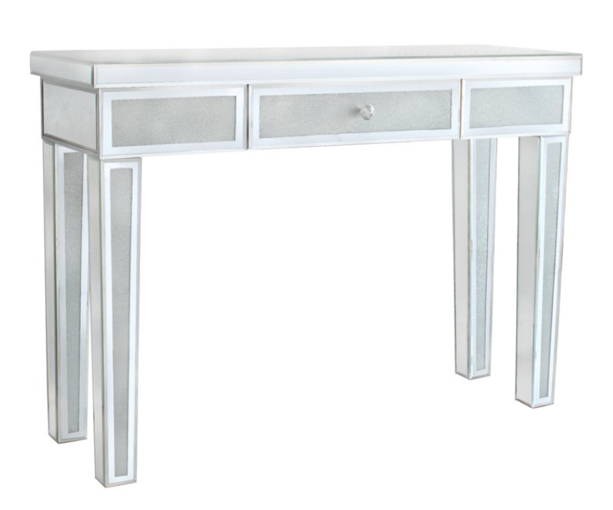 Frosted Diamond Crush Console Table