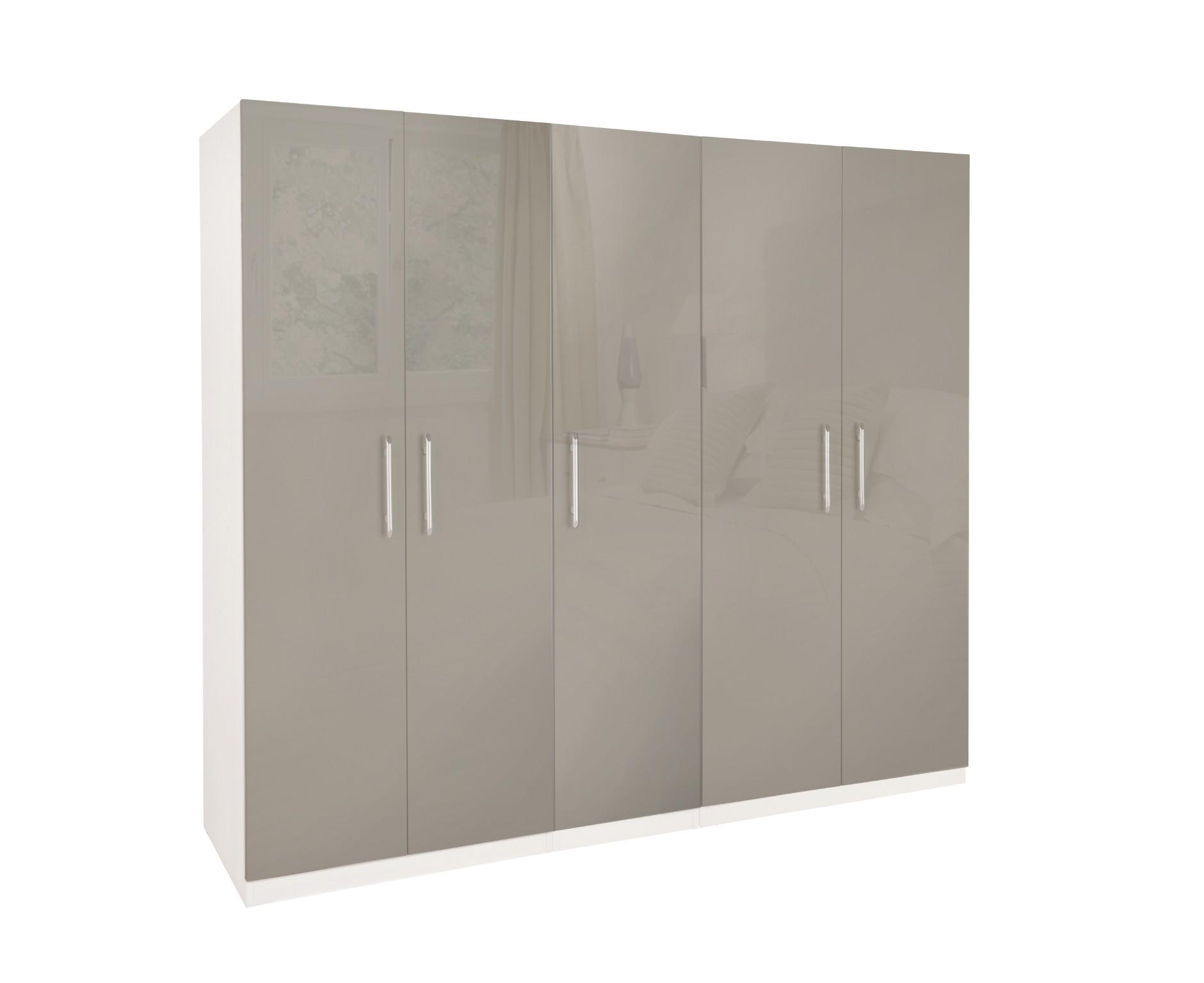Bayswater High Gloss 5 Door Wardrobe