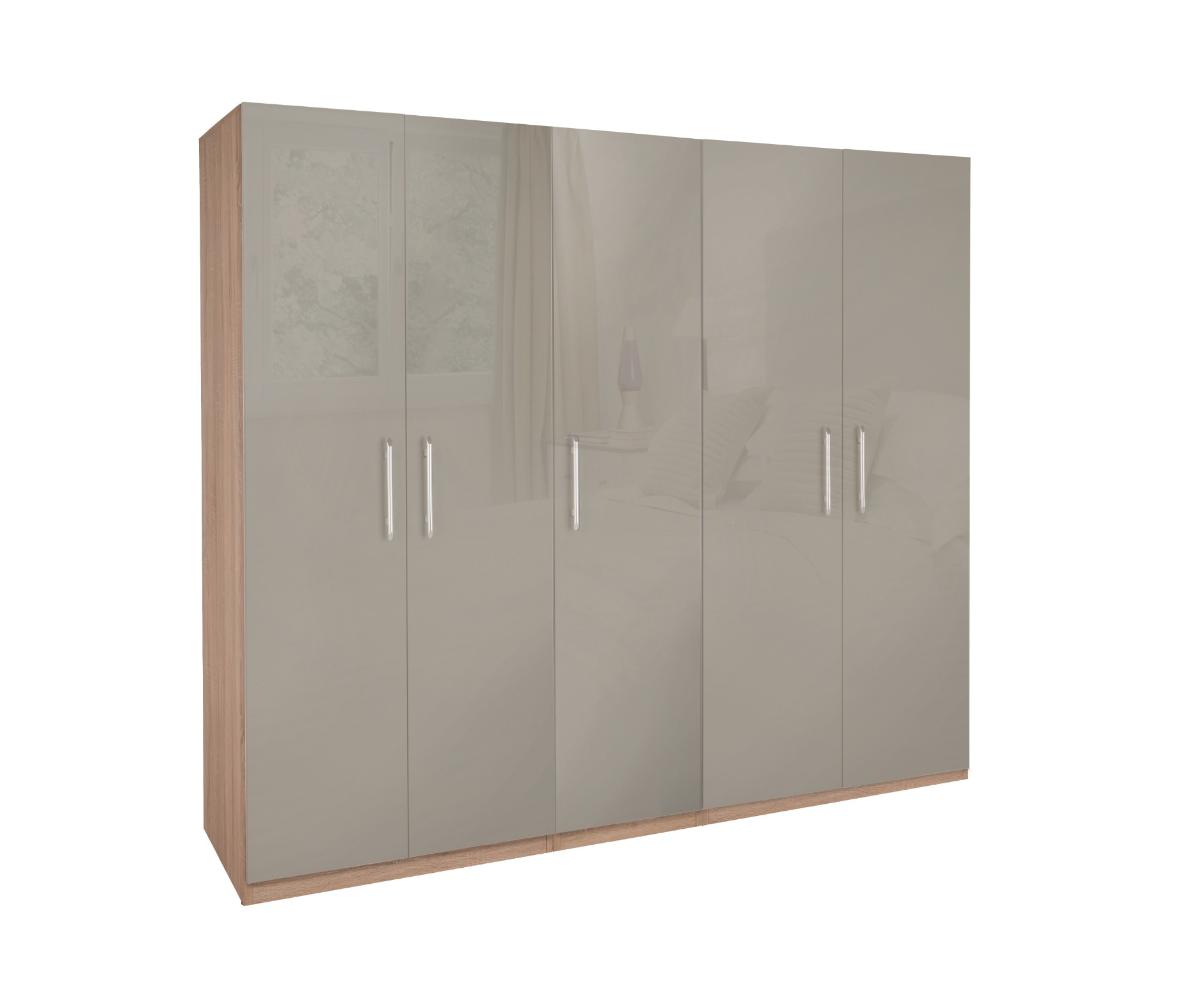 Kensington High Gloss 5 Door Wardrobe