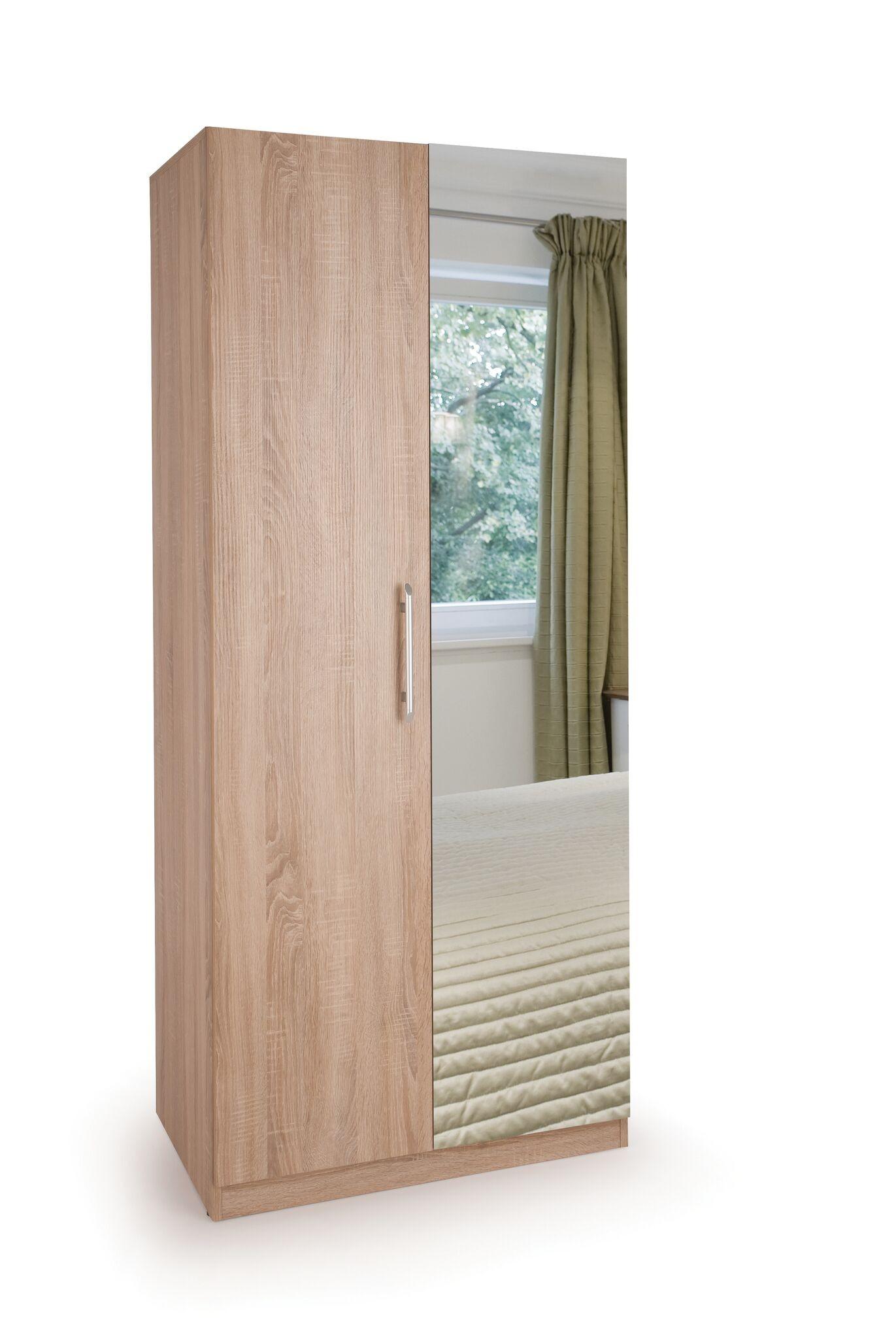 Connect Holborn 2 Door Wardrobe with Mirror