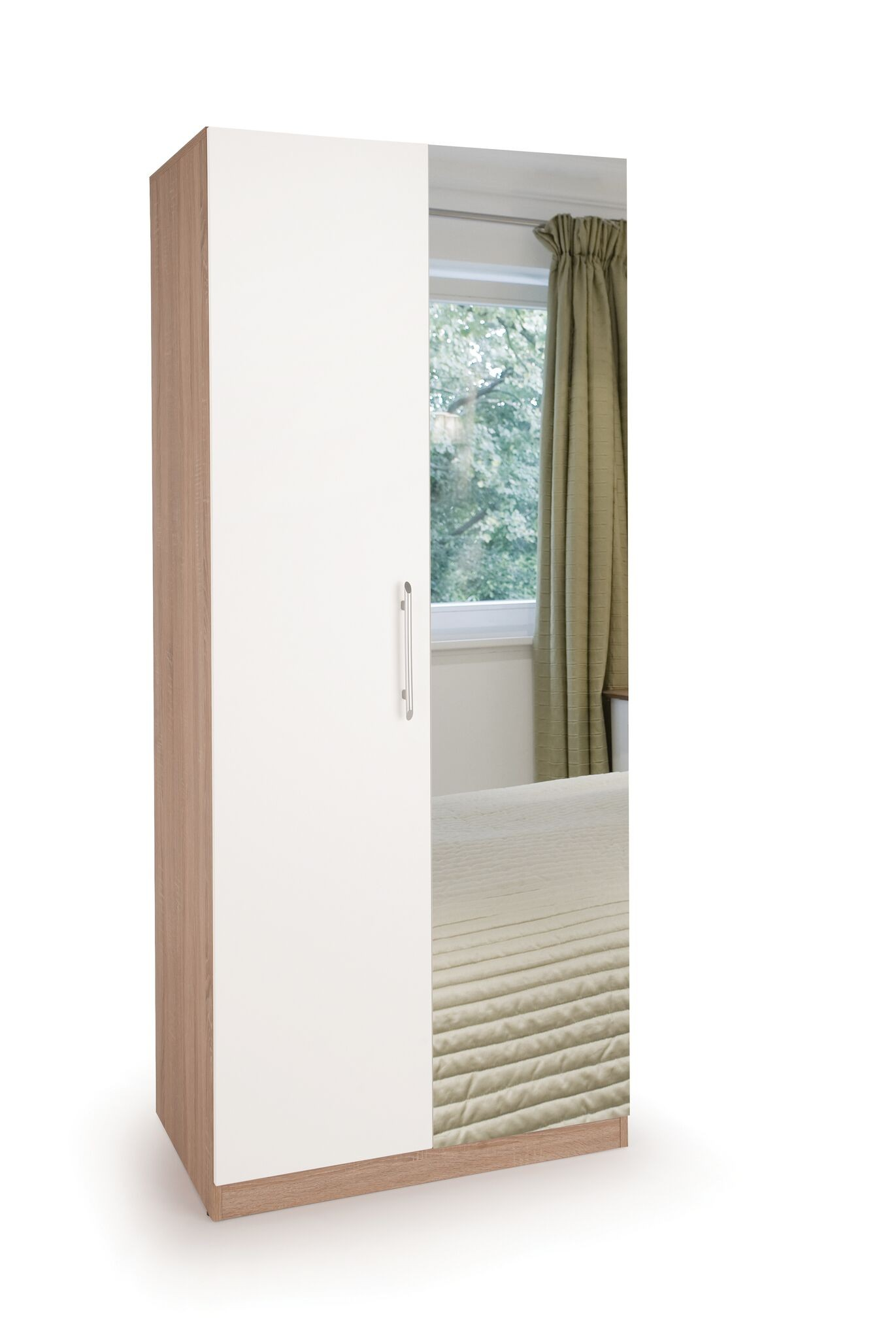 Connect Hyde 2 Door Wardrobe with Mirror