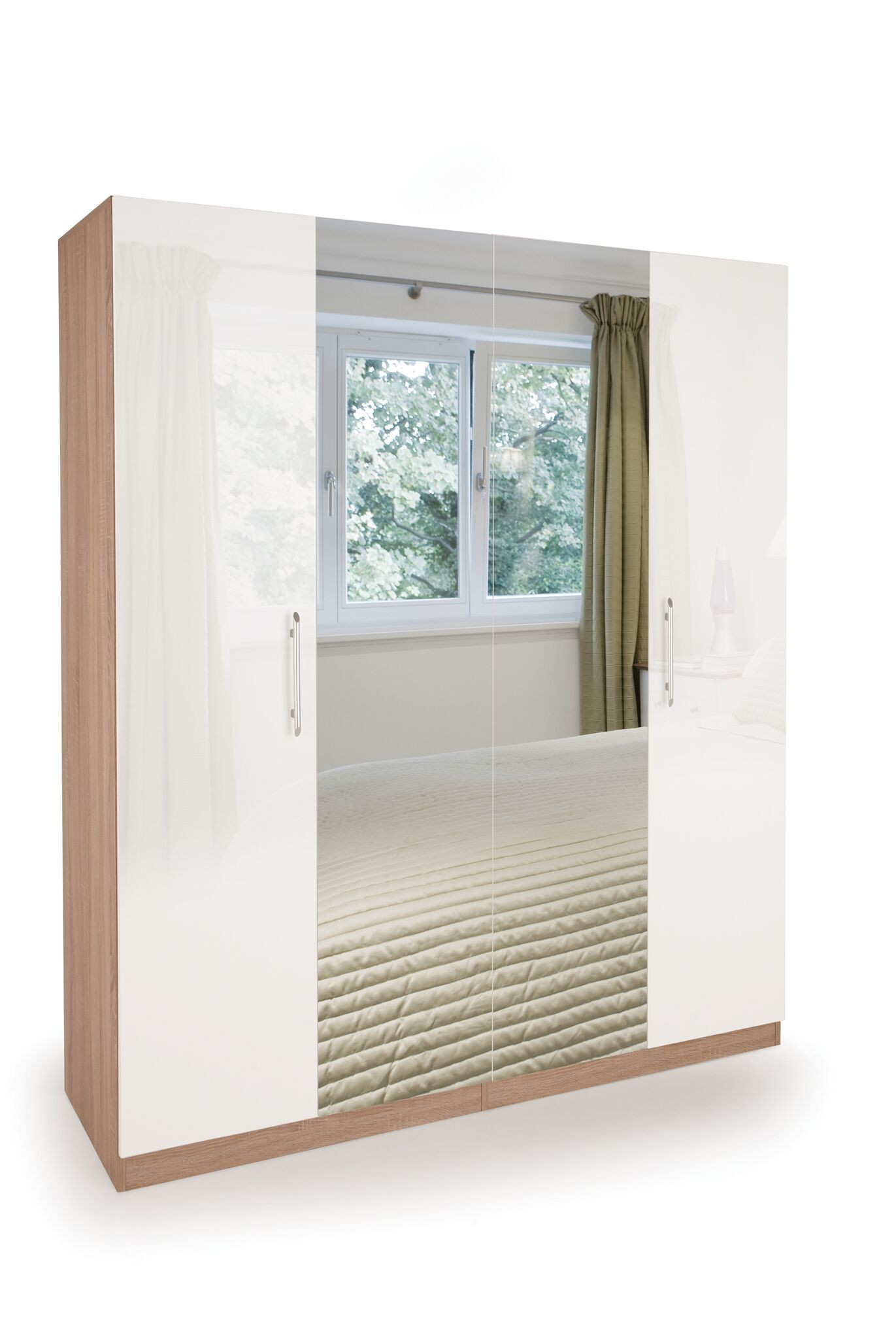 Connect Kew 4 Door Wardrobe with 2 Mirrors