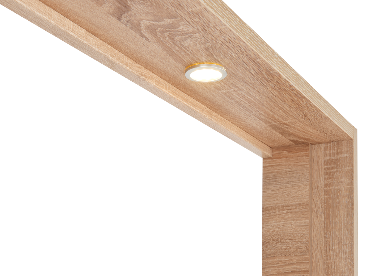 Dallas Wardrobe Light Surround - Available in white or oak