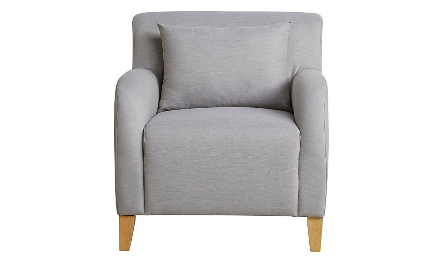 Fabric Armchair - Light Grey