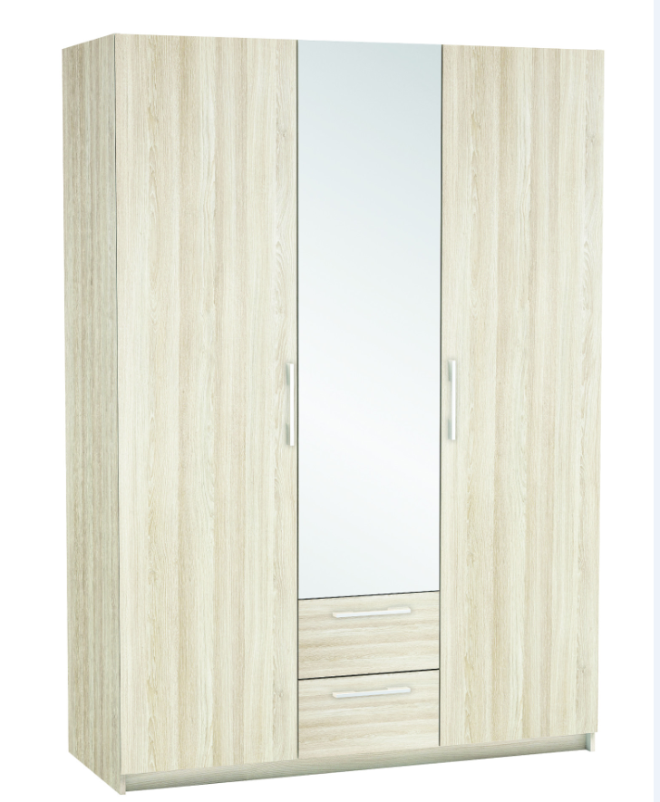 New York 3 Door Wardrobe - Light Oak