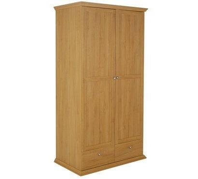 Paris 2 Door + 2 Drawer Wardrobe Oak