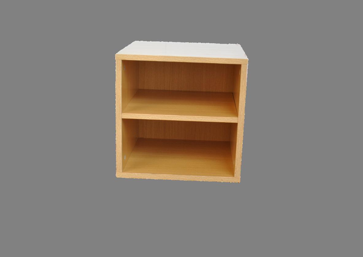 Oak Cube with Shelf