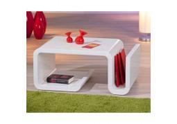 Zara White Coffee Table & Magazine Rack