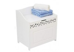 Scroll White Laundry Hamper