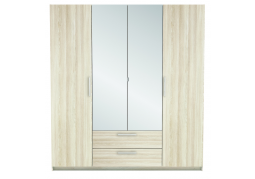 New York 4 Door Wardrobe - Light Oak