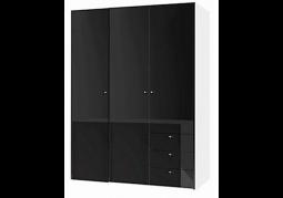 JAX 3 Door Wardrobe with 3 Drawers – HG Black