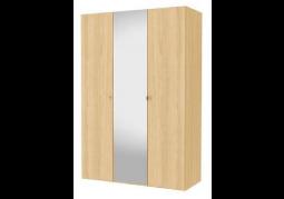 JAX 3 Door Mirrored Wardrobe - Oak