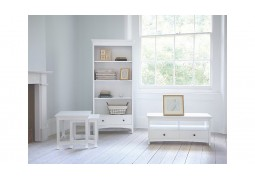 Yasmin White Bookcase