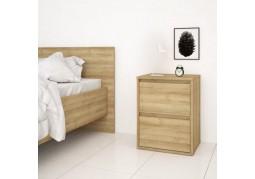Pattinson 2 Drawer Bedside - Oak