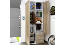 Space 2 Door 3 Drawer Oak Wardrobe