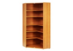 Prima Open Corner Bookcase - Light Cherry