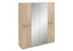 Hampton 4 Door Mirrored Wardrobe