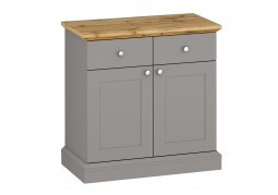 Ashover 2 Door 2 Drawer Sideboard - Grey & Oak