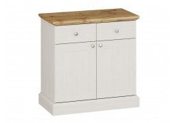 Ashover 2 Door 2 Drawer Sideboard - White & Oak