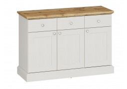 Ashover 3 Door 3 Drawer Sideboard - White & Oak