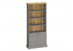 Ashover Bookcase - Grey & Oak