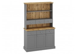 Ashover Tall Dresser - Grey & Oak