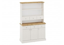 Ashover Tall Dresser - White & Oak