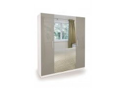 Connect Bayswater 4 Door Wardrobe with Mirrors