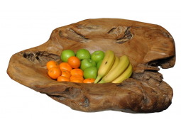 Carved Teak Wood Bowl - Large
