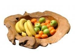 Carved Teak Wood Bowl - Medium